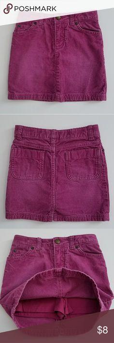 Girls courdorey skort Lands' End size 5 girls skort. Raspberry/wine colored skort. Lands' End Bottoms Skorts