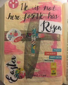 My Resurrection Day journaling entry  #illustratedfaith #illustrateyourfaith #illustratedfaithdaily2016 #bibleart #biblestudy #biblejournaling #bibleartjournaling #biblejournalingcommunity #journalingbible #journalingbiblecommunity #noteworthytruth http://ift.tt/1KAavV3