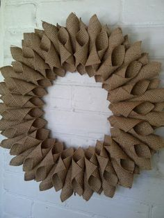 Brick Home Love: Burlap Wreath