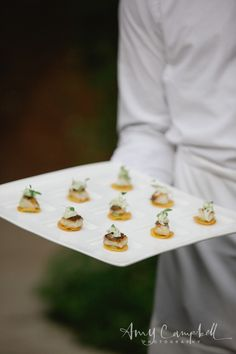 """Amy Campbell Photography.  """"Fish Taco"""" by Apiary Fine Catering and Events.  July Wedding in Lexington Kentucky."""