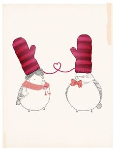 """The Perfect Pair by Kate Wilson/Little Doodles (via www.flickr.com/photos/littledoodles)"
