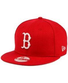 New Era Boston Red Sox C-Dub 9FIFTY Snapback Cap - Red Adjustable
