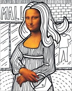 Fun with Mona Lisa   Art Projects for Kids. NEW with PDF Tutorial available. Students draw their own art around my template with just face and hands. #MonaLisa #artprojectsforkids