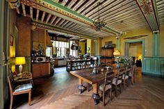 Dining room in castle in Burgundy ...International House Hunting - Slide Show - NYTimes.com