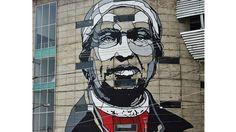 Pintadas contra la violencia en México: el desafío del arte urbano ante la criminalidad en Ecatepec  Detalle del mural en la estación de teleférico decorada por el artista estadounidense David Flores.