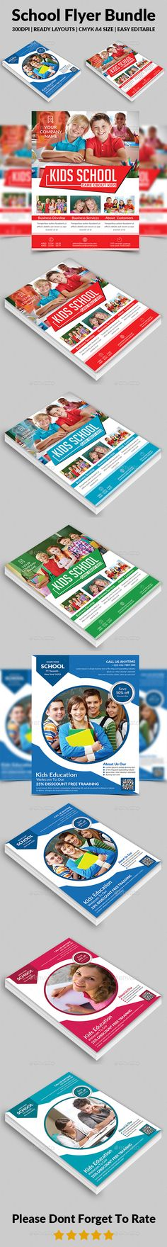 School Education Flyer Template Kid, Print and Template - daycare flyer template