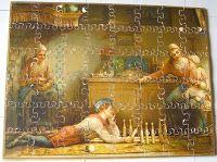 puzzle 19ème siècle - enfantina, jeux anciens; jouets anciens, grand puzzle, boite puzzle 19's