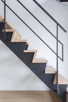 Home Stairs Design, Attic Design, Railing Design, Interior Stairs, Stairs And Doors, Metal Stairs, House Stairs, Modern Stair Railing, Modern Stairs