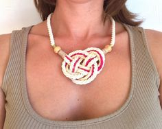 A personal favorite from my Etsy shop https://www.etsy.com/listing/191971670/wheat-color-necklace-beige-yuta-rope