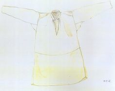 Ženská košeľa, Suchá Hora, začiatok 20. storočia. Košeľa, kosula je ušitá z domáceho ľanového plátna. Horná časť drieku a rukávy z jemnejšieho a spodná časť drieku z hrubšieho plátna. V priebehu prvej polovice 20. storočia dlhú košeľu nahradili rukávce, krátka košeľa s rukávmi stiahnutých do taclí, majkietok.a spodné sukne, spodníky.