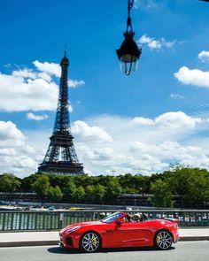 Pièce de résistance. #Jaguar #FTYPE #SVR, captured by @nickdimbleby in #Paris. #EiffelTower #Power #Performance #Sport #AmazingCars247 #InstaCar