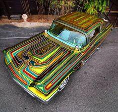 """""""Kustom paint and pinstriping by Pretty Cars, Cute Cars, Motorcycle Paint Jobs, Lowrider Art, Classy Cars, Pinstriping, Car Painting, Kustom, Retro"""