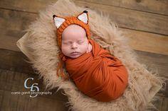 Baby Fox Bonnet Woodland Baby Enchanted by SweetnessInSmyrna