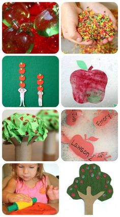 50+ Apple Ideas for Kids from www.fun-a-day.com -- so many apple-themed ideas for the kiddos!  There's sensory play, snacks, math, literacy, and arts & crafts.