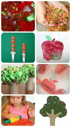 50+ Apple Ideas for Kids {Sensory, Snacks, Art, Learning}  -Repinned by Totetude.com