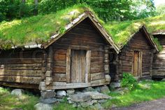 ancient norway | ... of 'Ancient fisherman's wooden huts in ethnic park of Alesund, Norway