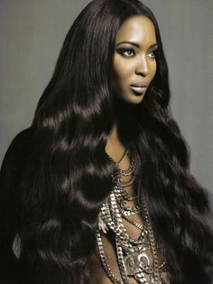 Xpose notices the wig trend - here, Naomi Campbell wears a black human hair wig Naomi Campbell, Natural Wigs, Natural Hair Styles, Long Hair Styles, Human Hair Lace Wigs, Remy Human Hair, Remy Wigs, Hair Tonic, Hair Growth Treatment