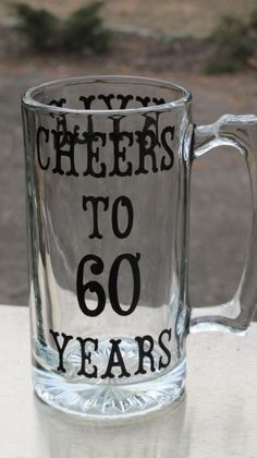 Personalized 60th Birthday Beer Mug by JayniesCloset on Etsy, $25.00