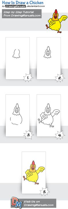 How to Draw a Chicken Step-by-Step https://itunes.apple.com/app/id1098056720 https://play.google.com/store/apps/details?id=com.aku.drawissimo