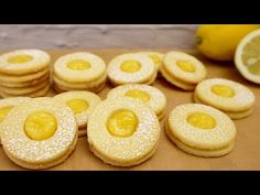 Κουλουράκι στο λεμόνι με κρέμα στο λεμόνι # 204 - YouTube Biscuits, Cookie Do, Lemon Cookies, Lemon Cream, Doughnut, Cookie Recipes, Cheesecake, Baking, Desserts
