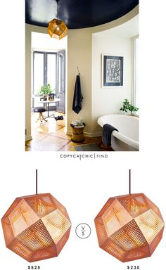 @yliving Tom Dixon Etch Shade Pendant Light $525 Vs @modernistlight Tetris Pendant Light Copper $230
