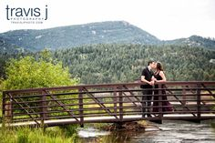 Engagement Photo, Evergreen, Colorado, Lake and Mountains, Travis J Photography