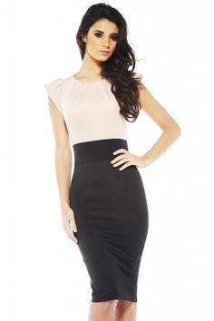 Pleat Front Two In One Midi Dress