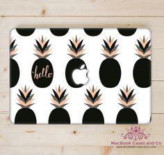 Hello Pineapple MacBook Case. Hard Plastic Macbook Case by MacBookCasesandCo on Etsy