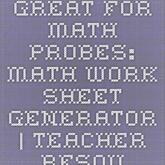 math worksheet : 1000 images about mrs spurling  middle school on pinterest  : Intervention Central Math Worksheet Generator
