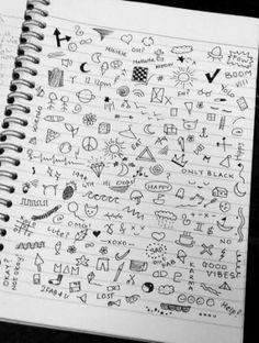 The Amazing - grunge doodles Small Drawings, Doodle Drawings, Easy Drawings, Doodle Art, Drawings On Hands, Drawing Faces, Diy Tumblr, Tumblr Art, Tumblr Drawings Grunge