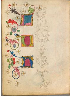 The Illuminated Sketchbook of Stephan Schriber (1494) | The Public Domain Review