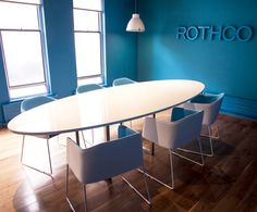 Office Design - Boardroom - Meeting Room - Blue - Pedrali Laja - Rothco Advertising Agency, Dublin by Think Contemporary
