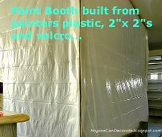 budget friendly spray paint booth, diy, how to, painted furniture, More about how we built our paint Diy Paint Booth, Spray Paint Booth, Diy Spray Paint, Garage Paint, Diy Garage, Garage Ideas, Portable Paint Booth, Small Woodworking Shop Ideas, Painting Oak Cabinets