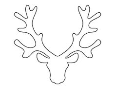 Reindeer Head Pattern    - #DRAW #ZENTANGLE #ZENDALA #TANGLE #DOODLE #TEMPLATE #VORLAGEN