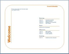 You Can Design An Event Program Template To Inform Lots Of People