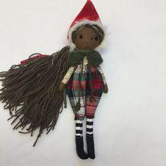 """Holly - handmade, cloth, linen doll 13"""" ooak forest fairytale"""