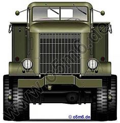Engines of the Red Army in WW2 - Autocar U-8144T Truck Tractor