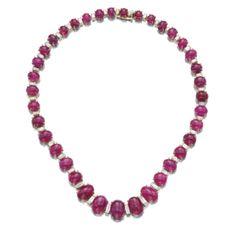 Ruby and diamond necklace, Bulgari -