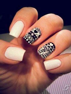 aztec black & white
