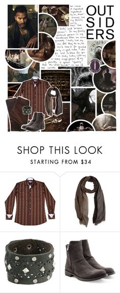 """""""It's killing me just living in the mess I made. I fell into a river of all my own disasters and wash away the worst and leave me clean."""" by pie-epic ❤ liked on Polyvore featuring GET LOST, Identity, Salvatore Ferragamo, Leatherock, Officine Creative, men's fashion and menswear"""
