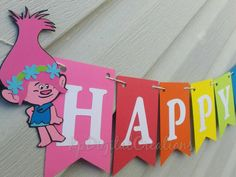 Trolls Birthday Banner, Trolls Birthday party   Check out this item in my Etsy shop https://www.etsy.com/listing/478568252/trolls-birthday-trolls-birthday-banner