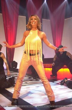 Britney performing on Top of the Pops in 2000.