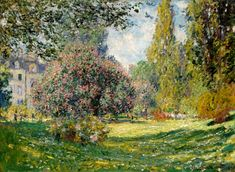 off Hand made oil painting reproduction of The Parc Monceau Paris, one of the most famous paintings by Claude Oscar Monet. In spring of Claude Oscar Monet concluded three paintings of the Parc Monceau, in . Claude Monet, Monet Paintings, Landscape Paintings, Tree Paintings, Landscape Sketch, Artist Monet, Lily Pond, Impressionist Paintings, Impressionist Landscape