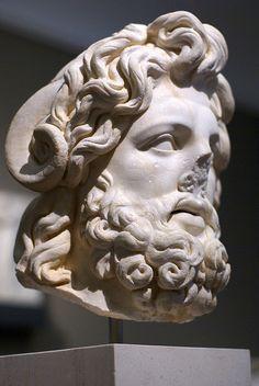 Head of a colossal statue of Zeus-Ammon, Roman Tunisia, 150 - 180 b.C.