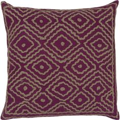 Add a unique, earthy touch to any setting with this geometric Pillow designed by Beth Lacefield. Crafted from 100-percent linen with cotton detailing, this pillow is available in a variety of colors to match your decor.