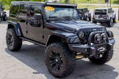 Top 50 Black Jeep Wrangler Unlimited Modifications Photos Collections affordable http://pistoncars.com/top-50-black-jeep-wrangler-unlimited-modifications-photos-collections-4704