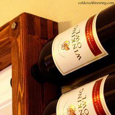 Over the door wine rack