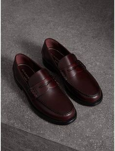 b7ccc1c029f The Best Men s Shoes And Footwear   Burberry Leather Penny Loafers -  Fashion Inspire