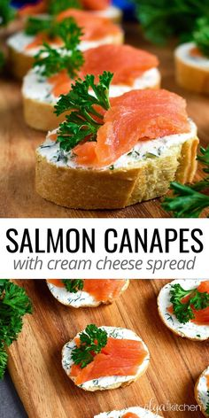 8 reviews · 20 minutes · Serves 30 · Smoked Salmon Cream Cheese Tea Sandwiches (canapes): easy elegant, delicious and simple treat to wow the crowd at major gatherings! #salmon #smokedsalmon #canapes #sandwich #olgainthekitchen #seafood… More Easy Appetizer Recipes, Healthy Appetizers, Easy Dinner Recipes, Easter Recipes, Holiday Appetizers, Holiday Meals, Easy Meals, Salmon Recipes, Pork Recipes