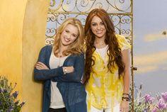 Miley Cyrus e Emily Osment (Foto: Divulgação / Hannah Montana)